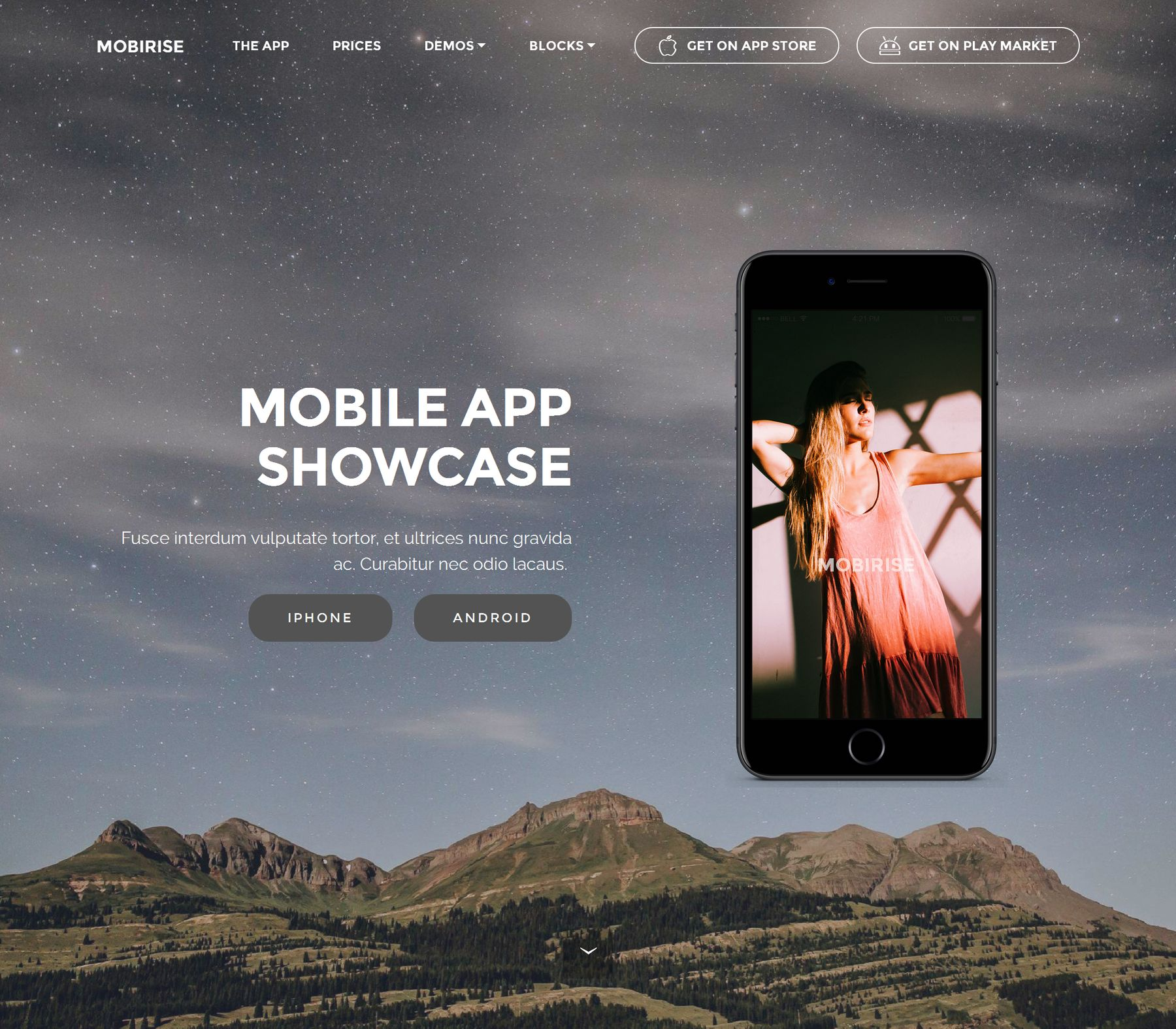 Bootstrap HTML Mobile Application Templates