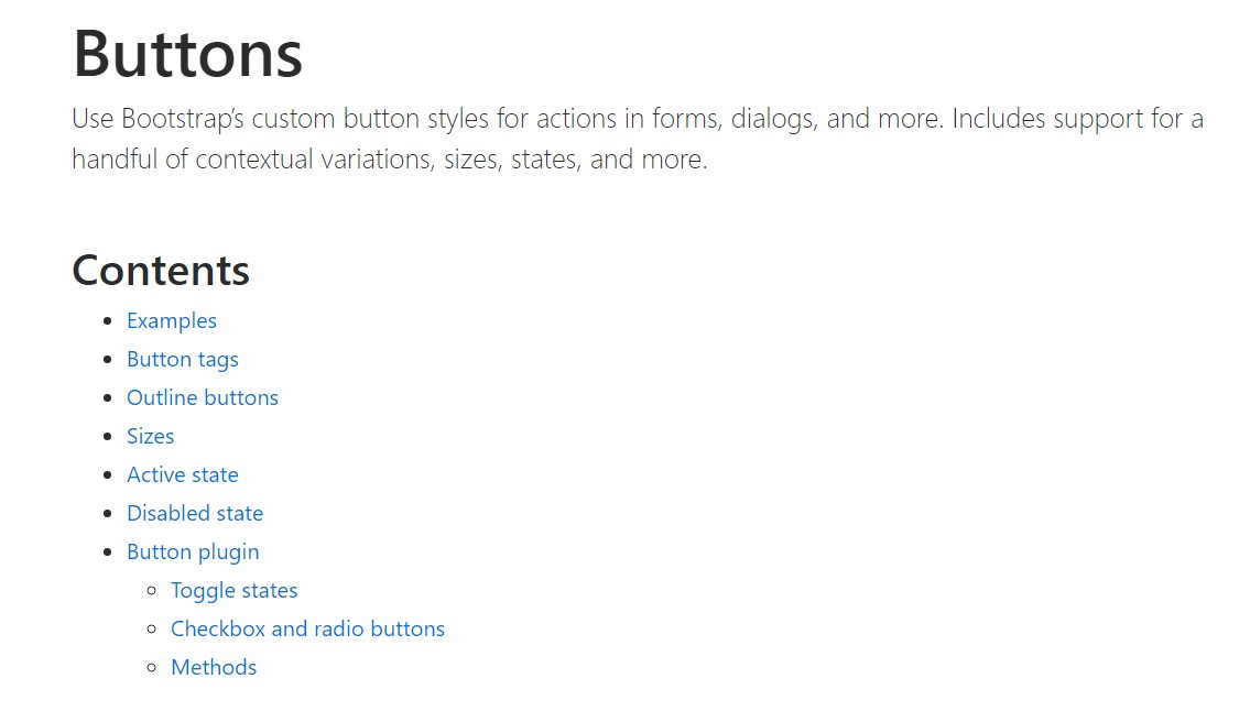 Bootstrap buttons official  records