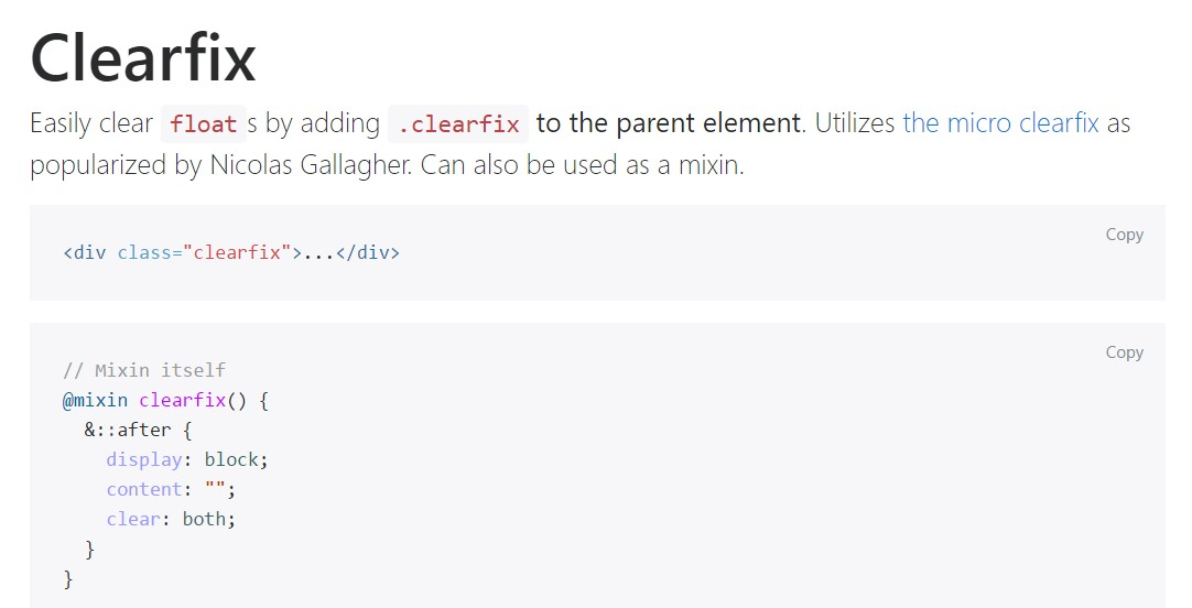 Bootstrap clearfix  main  documents