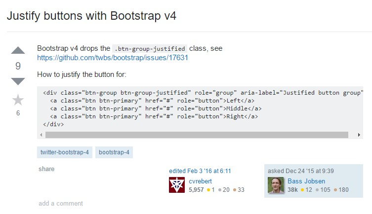 Justify buttons  by using Bootstrap v4