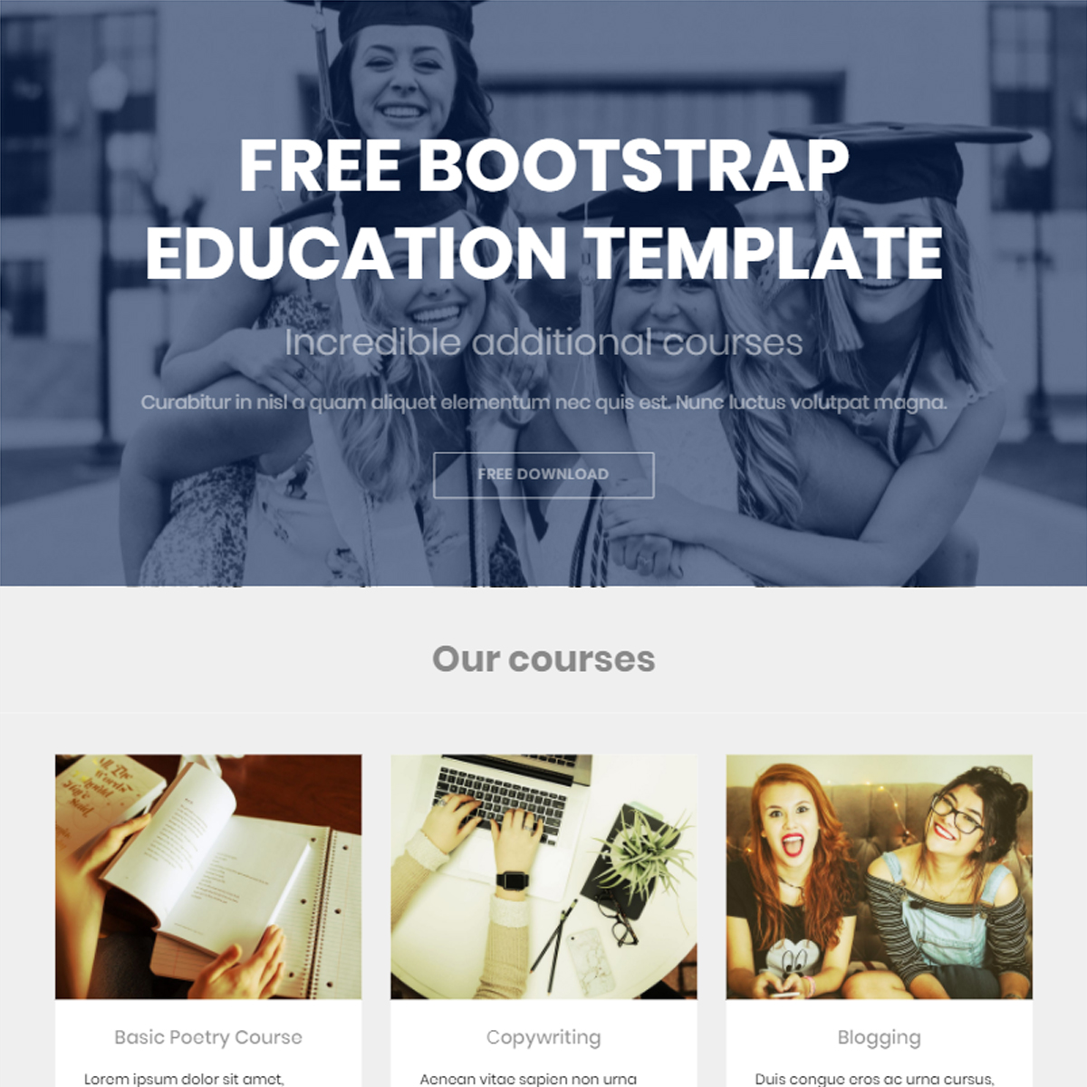 Free Download Bootstrap Education Themes