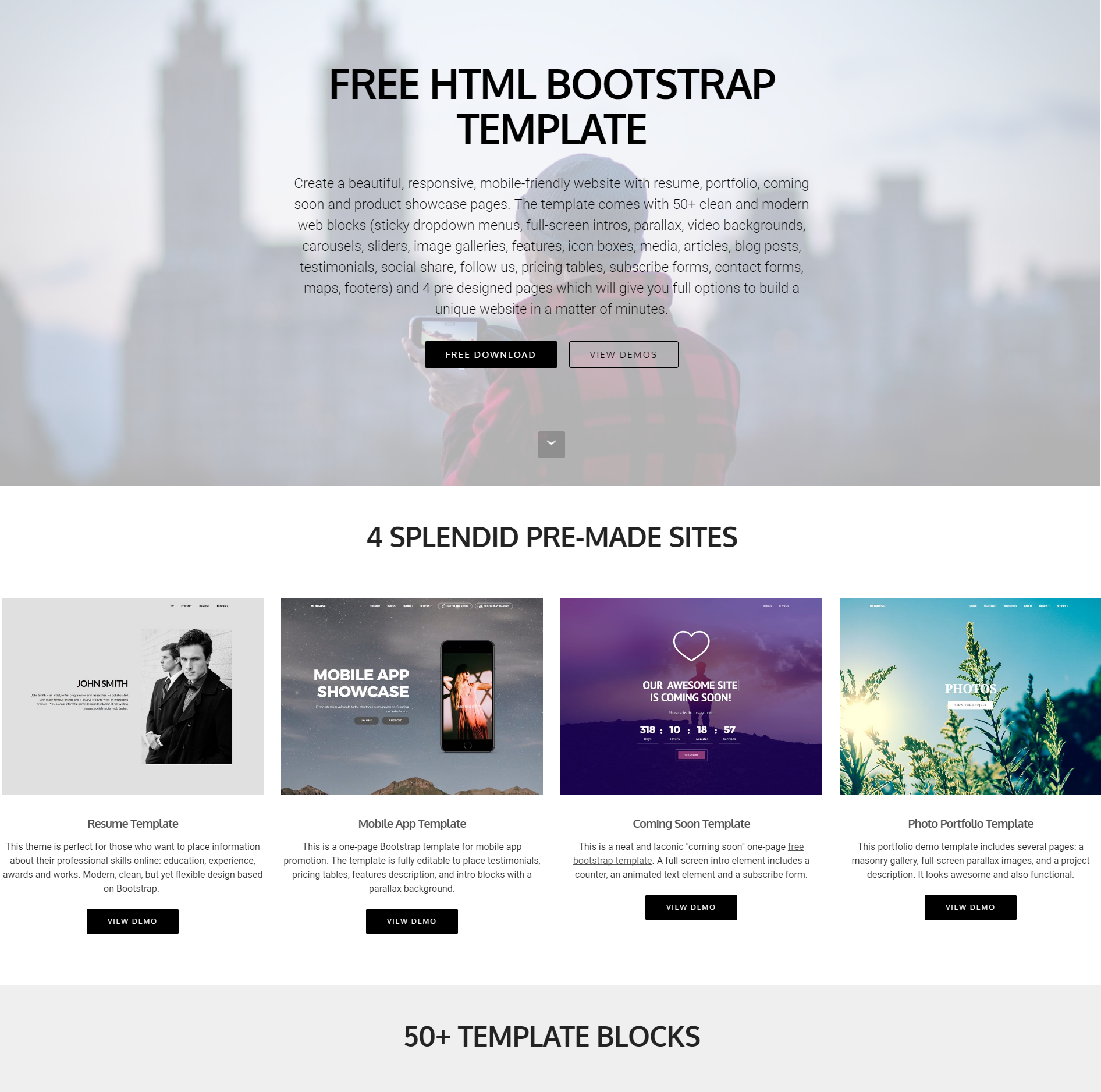 Free Download Bootstrap Themes