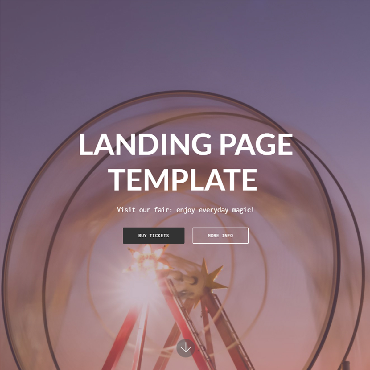 HTML5 Bootstrap Landing Page Themes