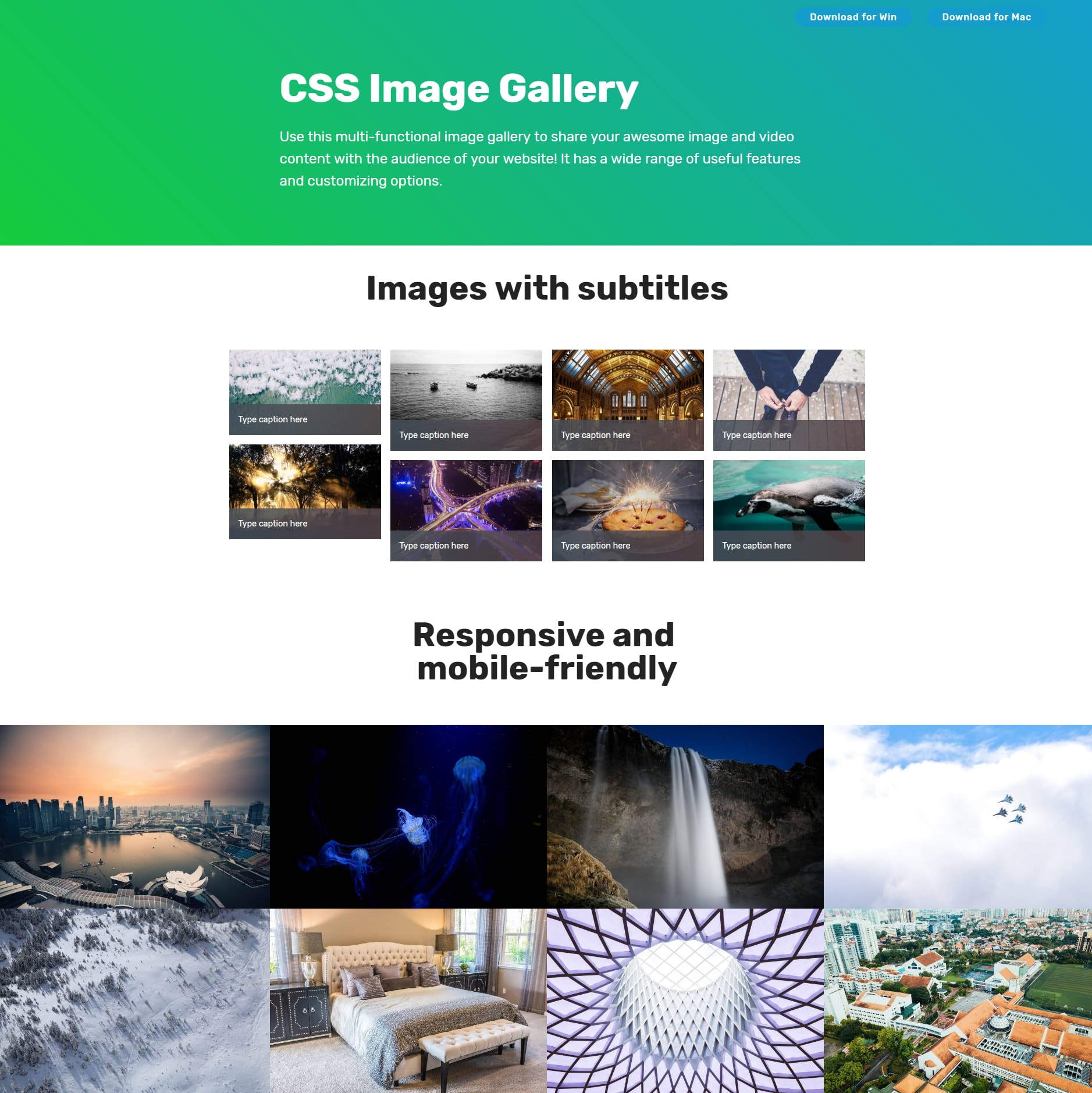 HTML5 Bootstrap Photo Gallery