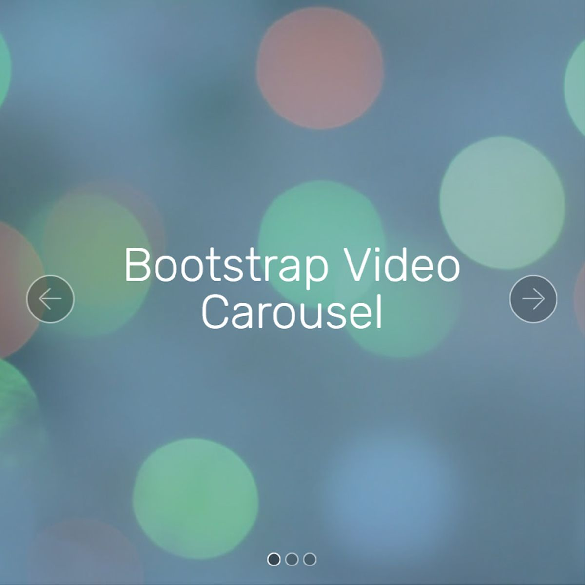 CSS3 Bootstrap Illustration Slider