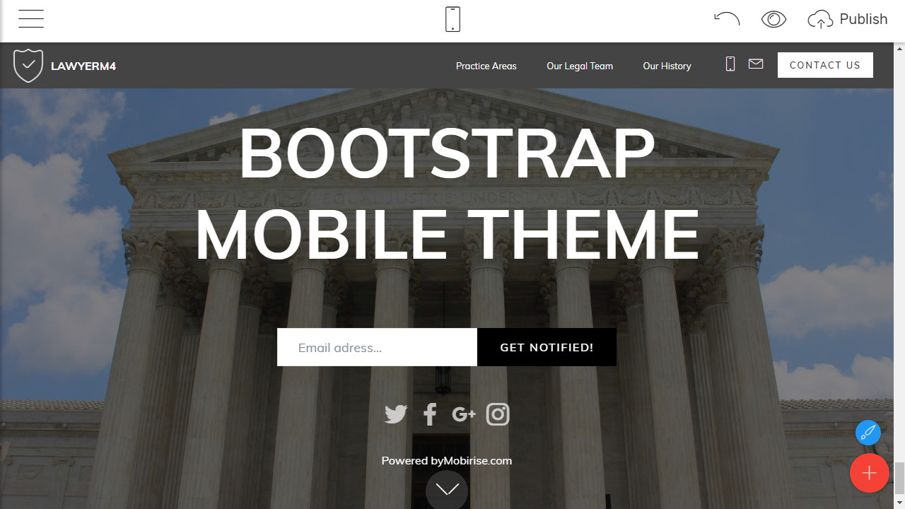 Bootstrap Mobile Theme