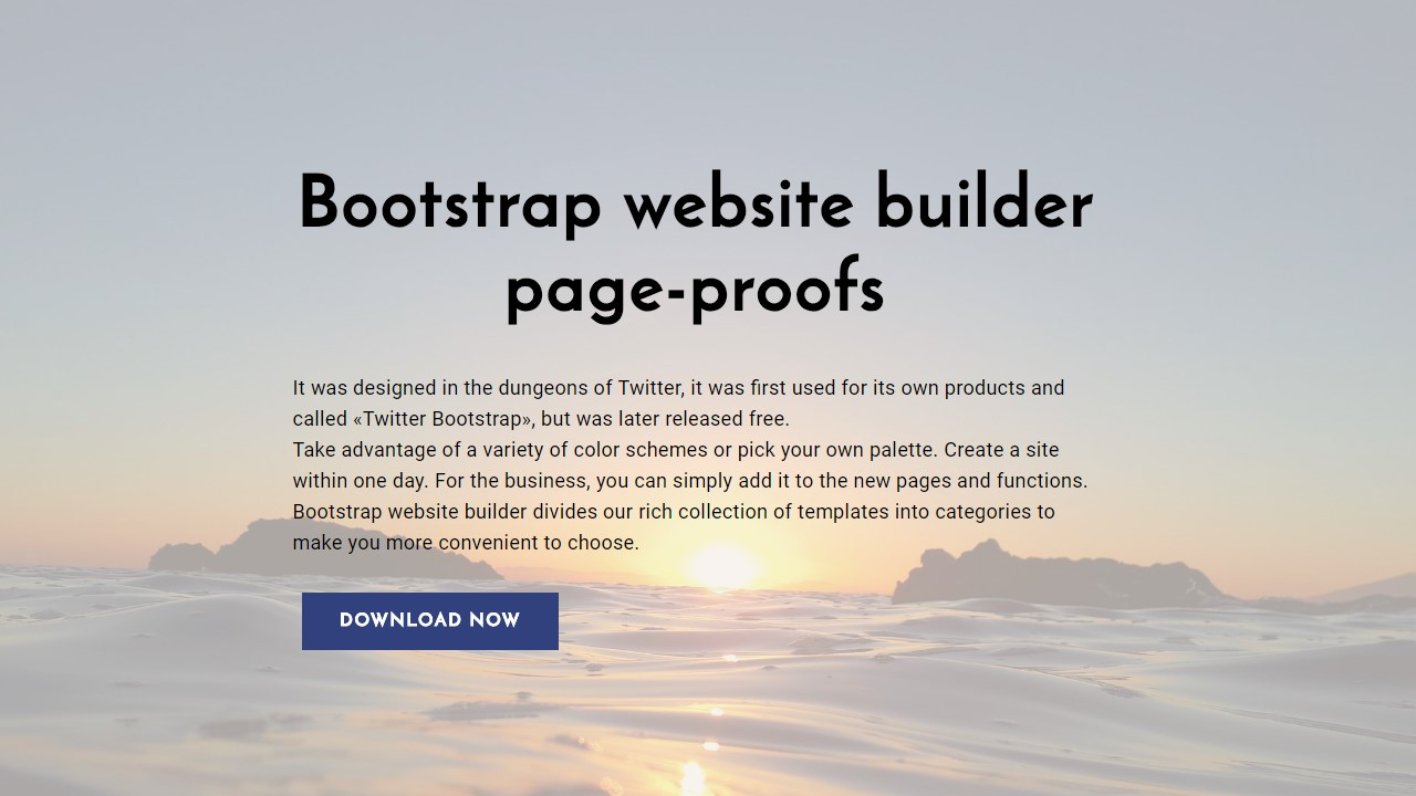 Bootstrap Website Template