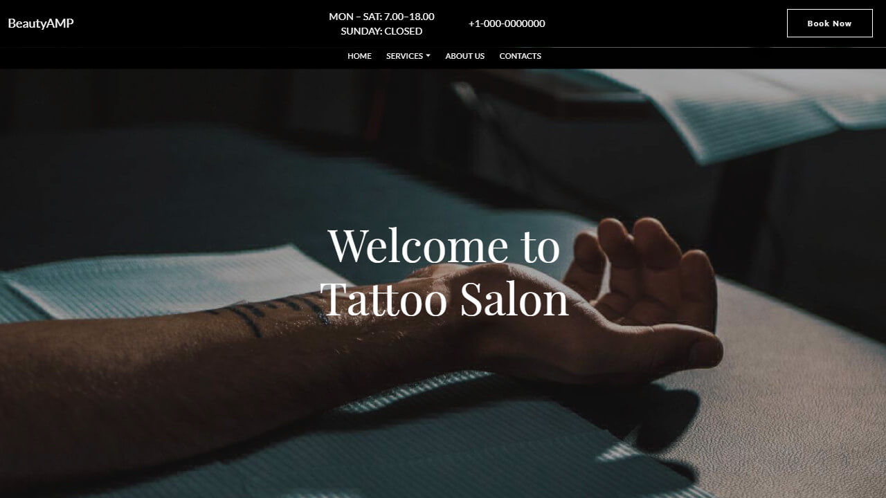 Beauty Tattoo AMP CSS Template