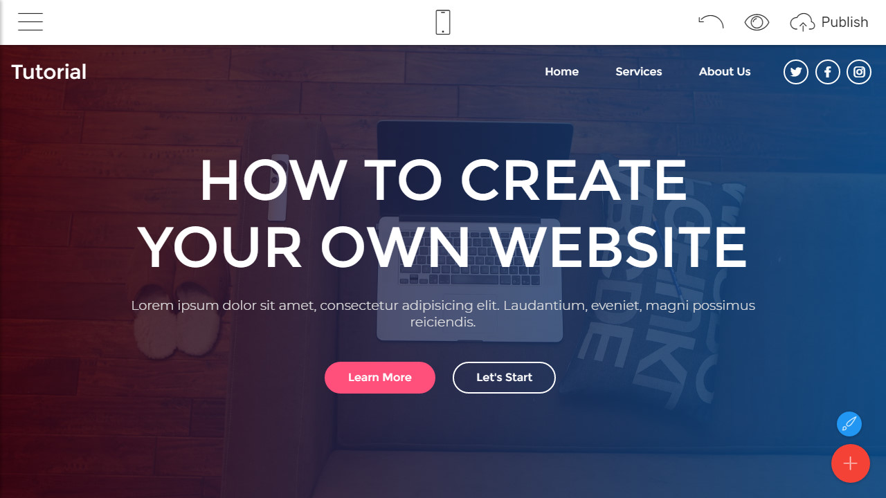how to make own website