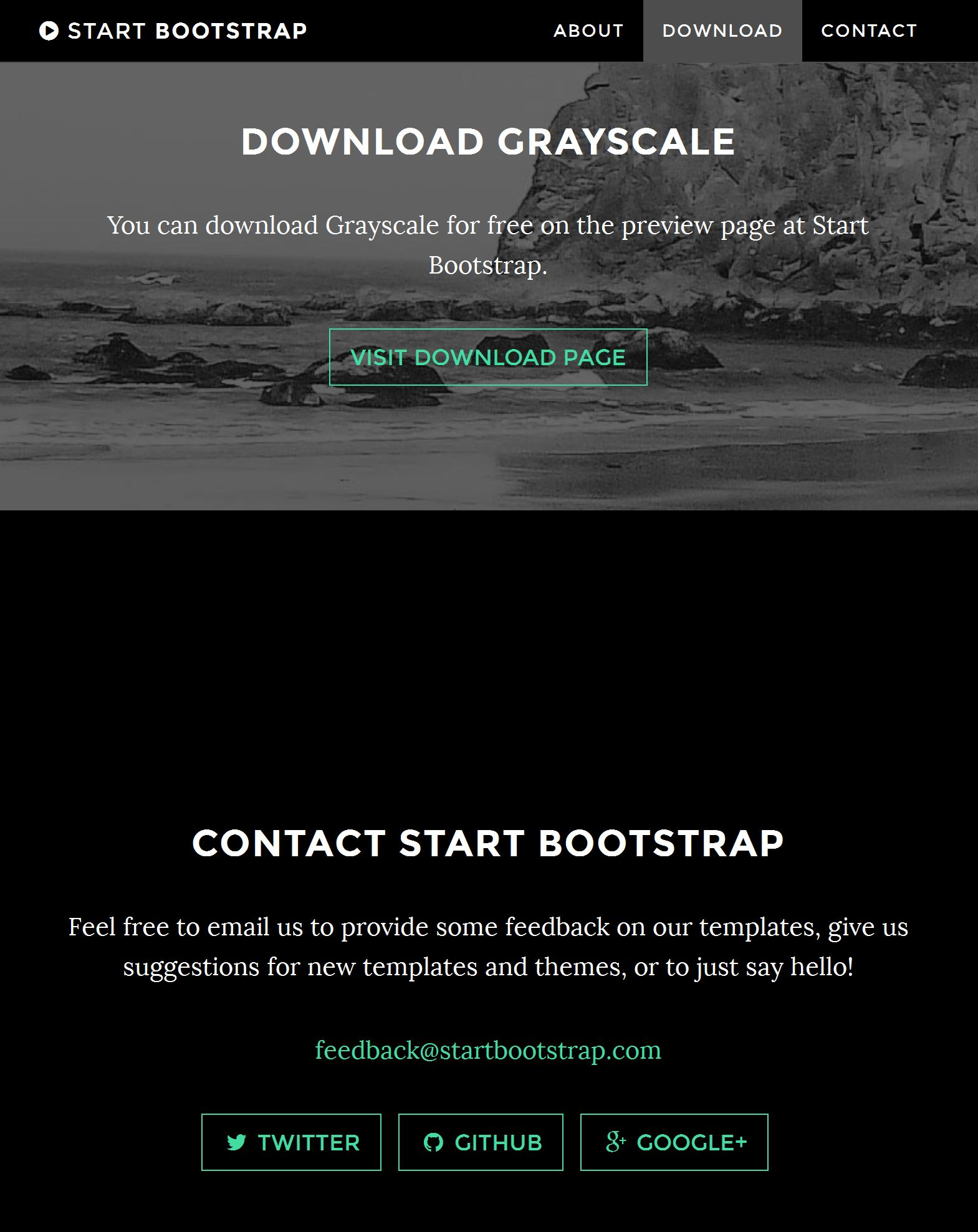 Bootstrap Template One Page