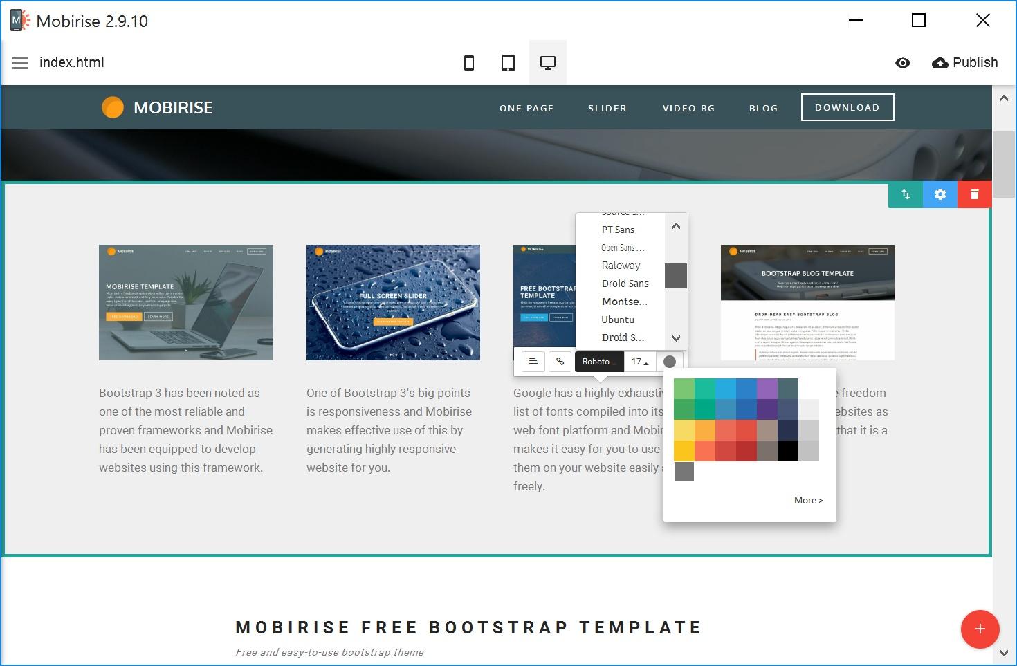 WYSIWYG Mobile Website Maker