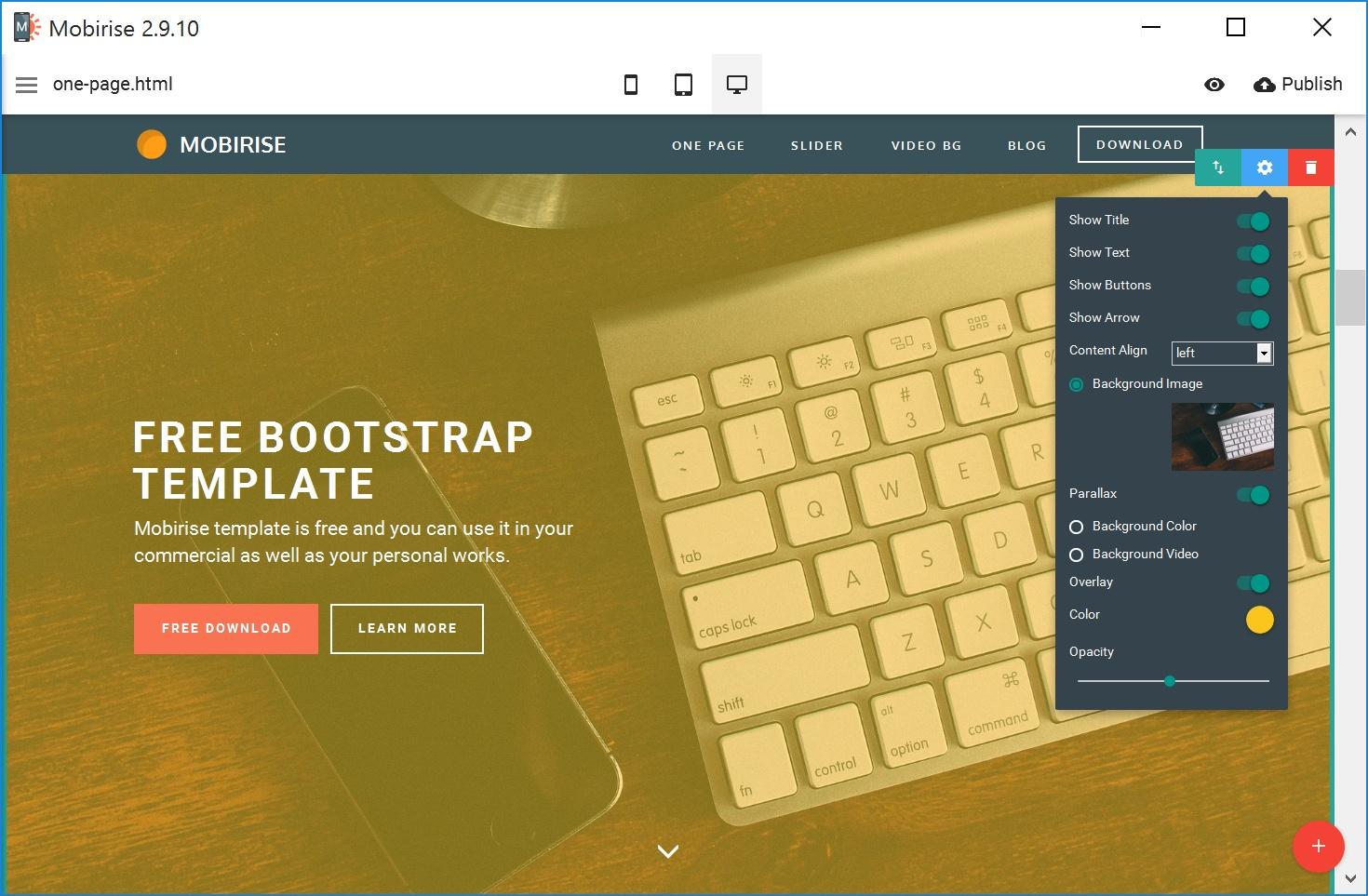 Responsive Mobile Website Maker Software