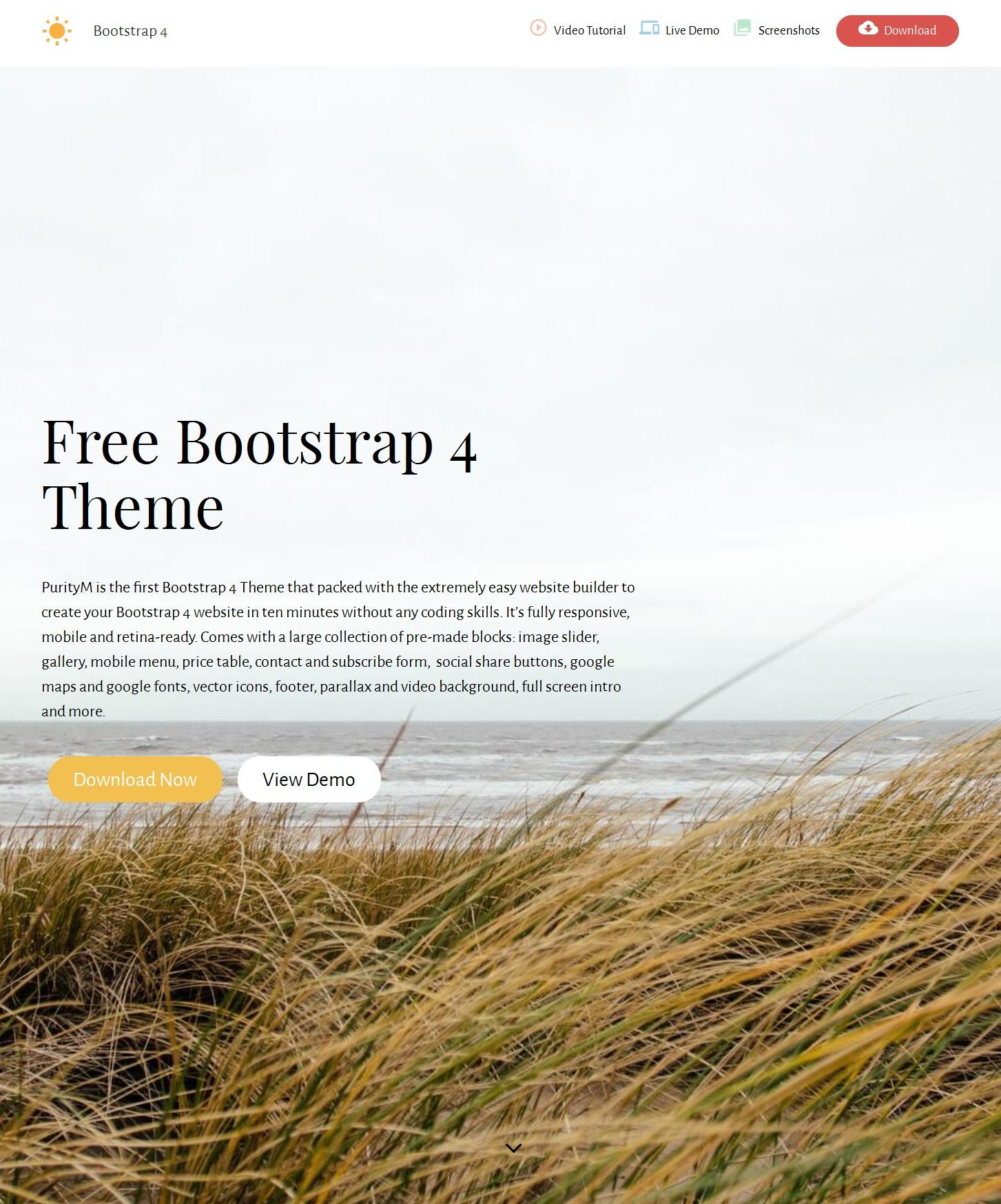 CSS3 Bootstrap Starter Theme