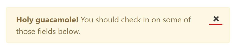Bootstrap alert  rejecting