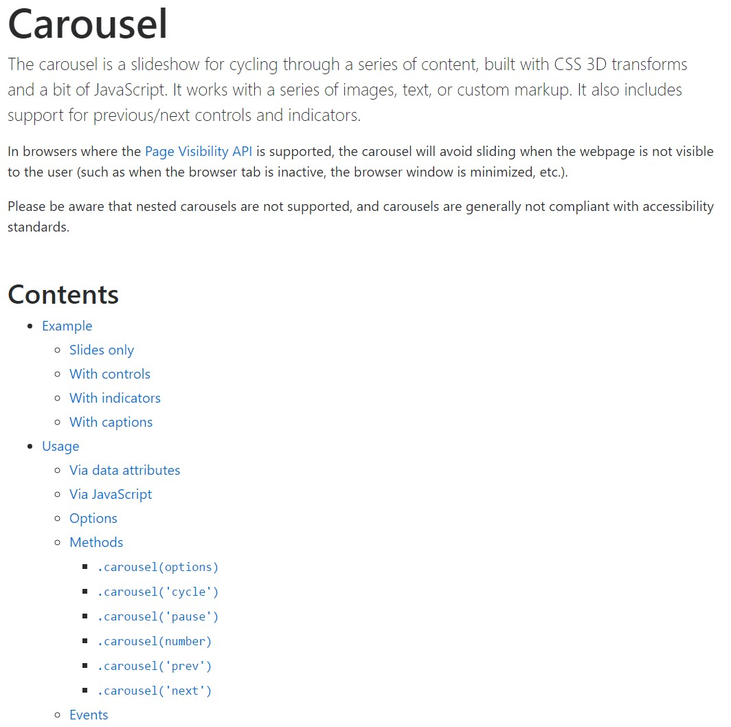 Bootstrap carousel  approved  records