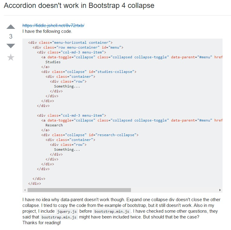 Bootstrap collapse  difficulty