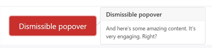 Dismiss on  following click
