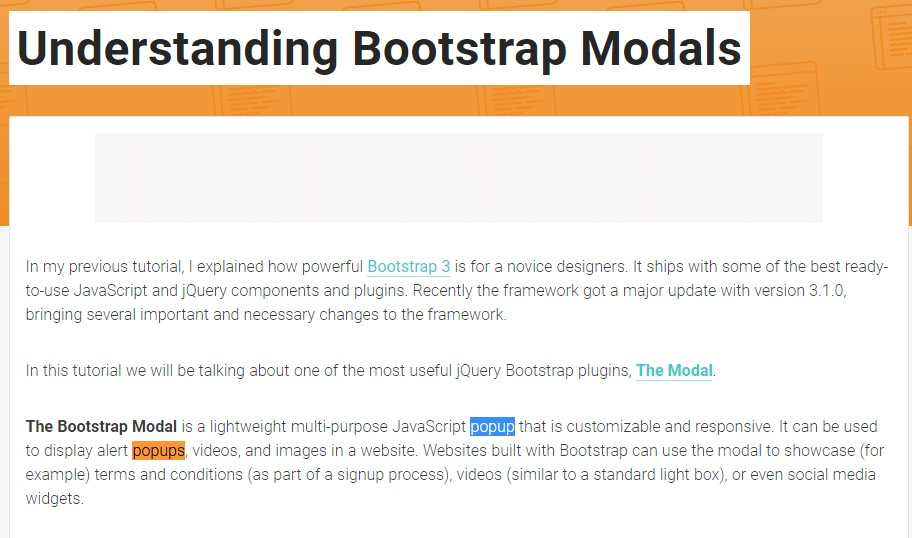 An additional  helpful  content  relating to Bootstrap Modal Popup