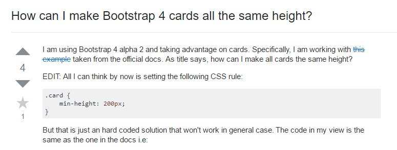 Insights on  precisely how can we  set up Bootstrap 4 cards  all the same  height?