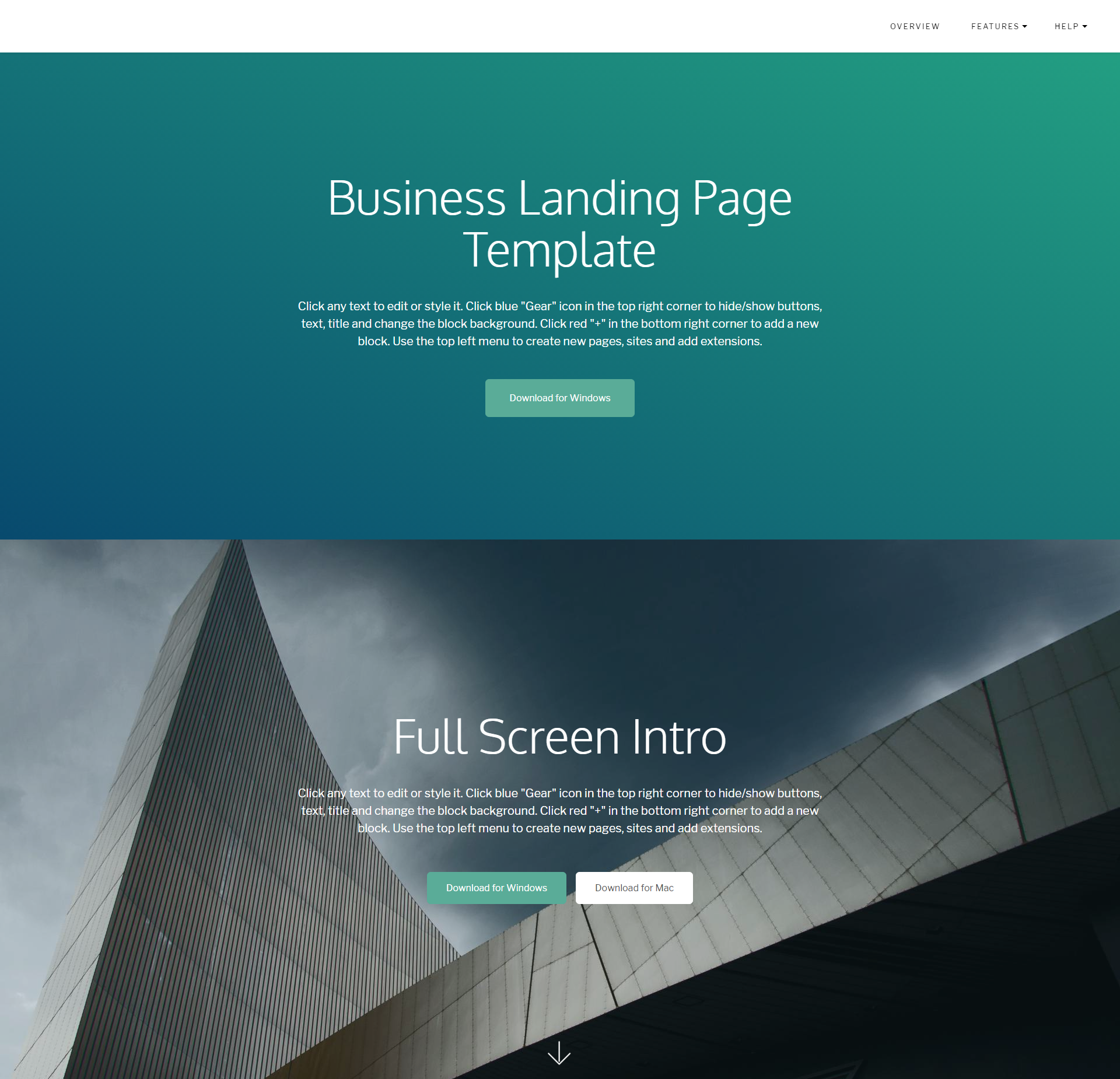Responsive Bootstrap Business Landing Page Templates