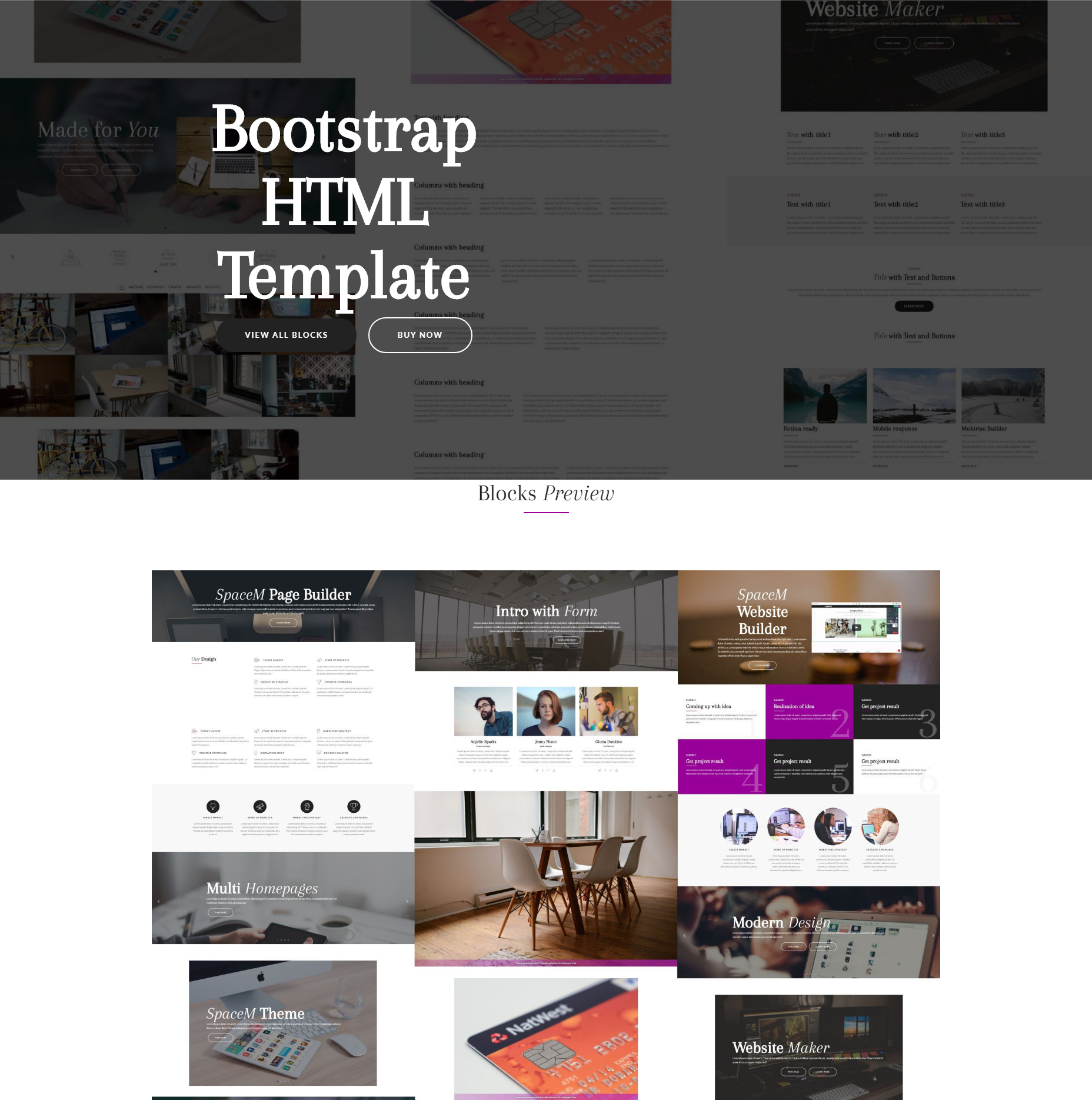 Free Download Bootstrap HTML Templates