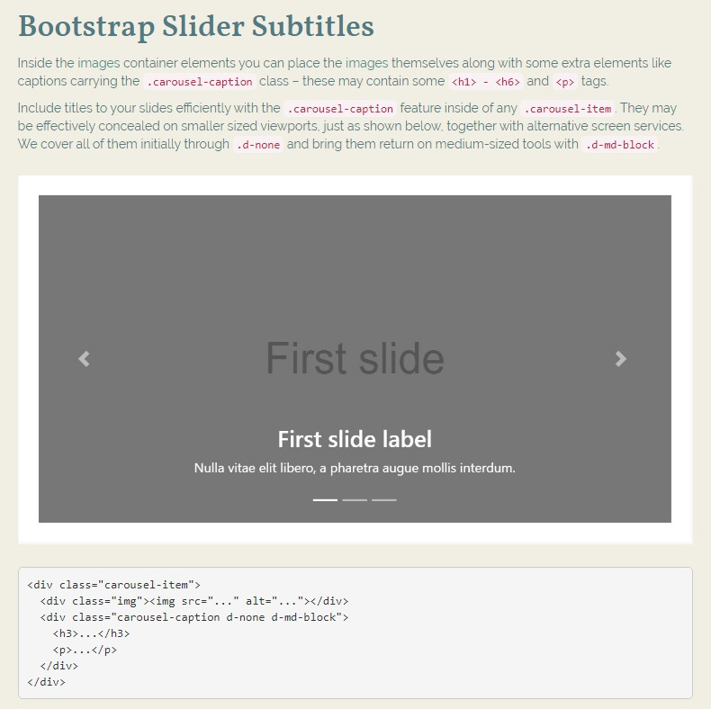 Bootstrap Image Slider With Thumbnail