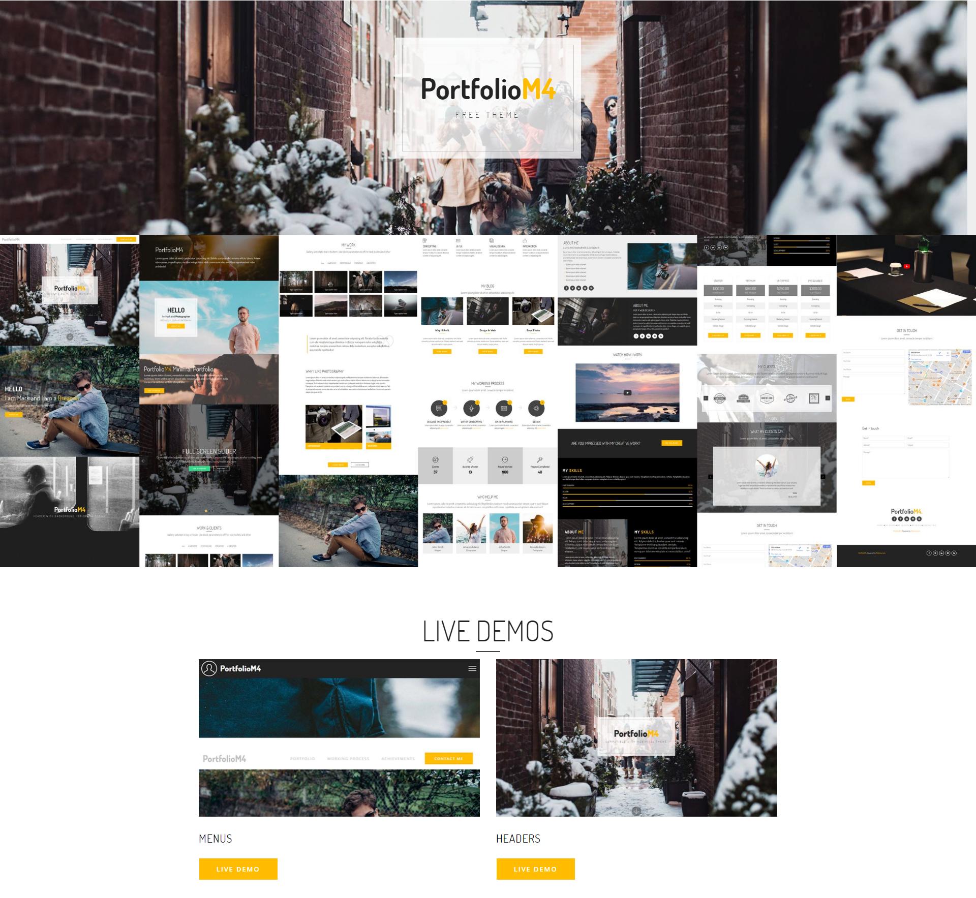 Free Bootstrap PortfolioM4 Templates