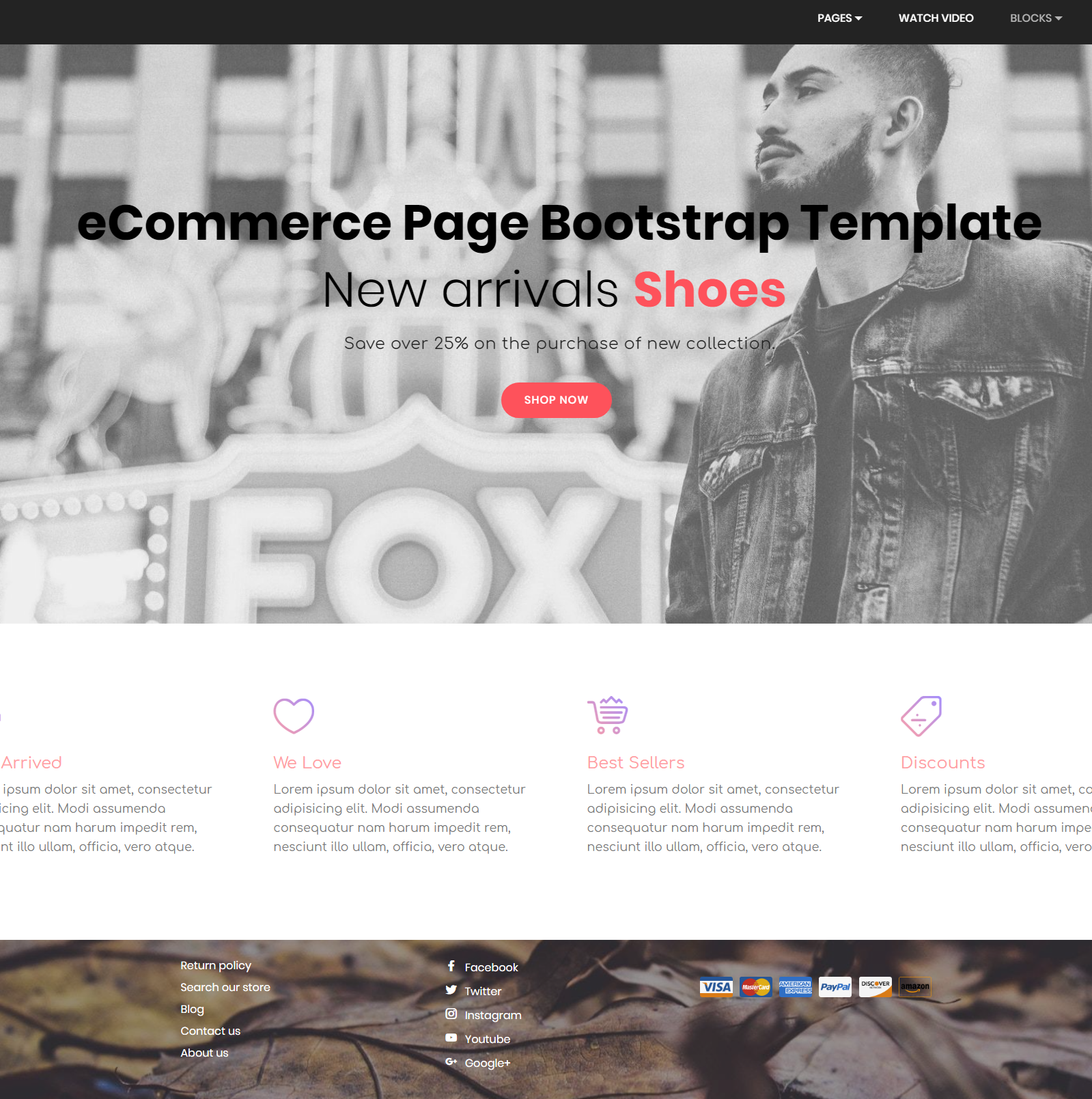 HTML Bootstrap eCommerce Themes