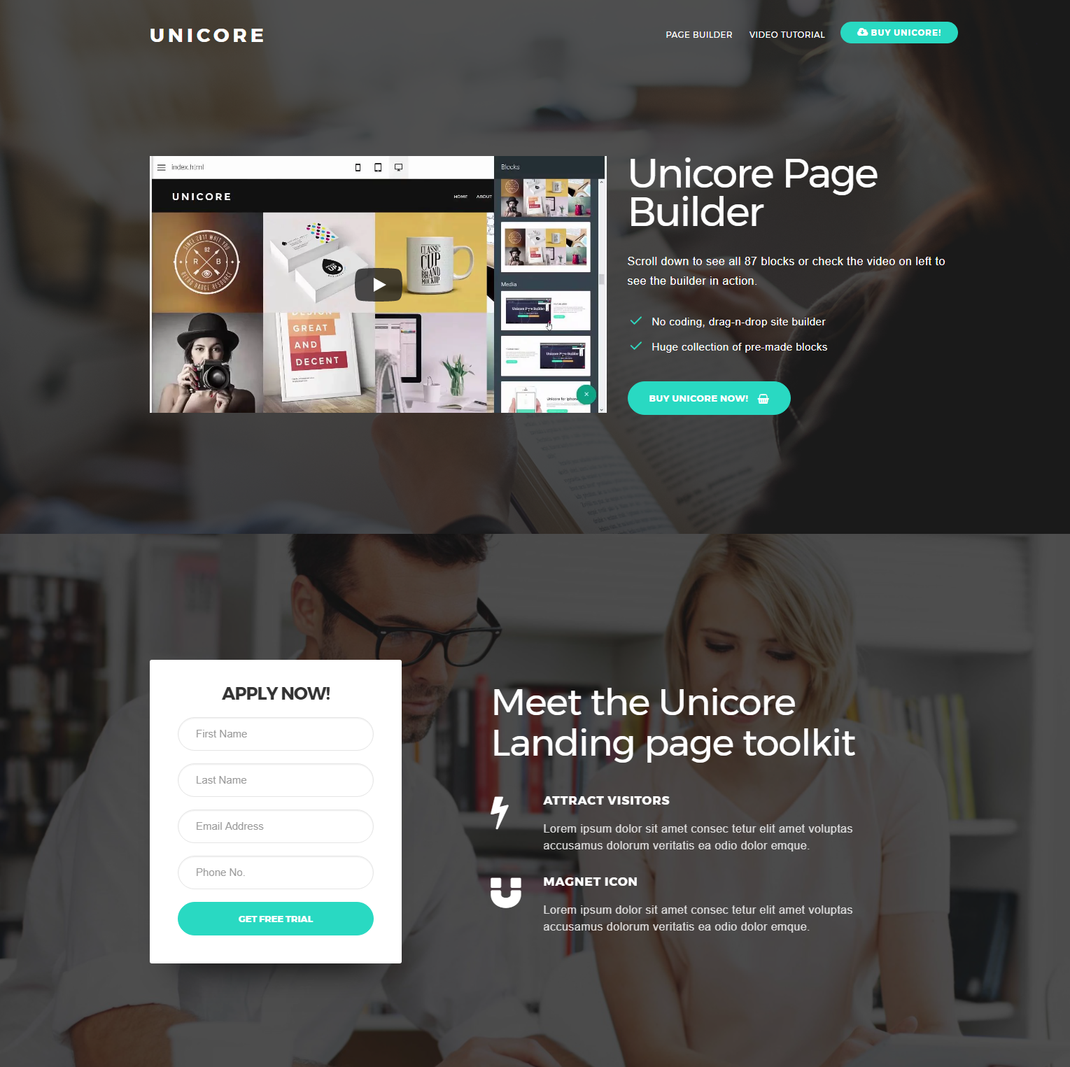 Free Download Bootstrap Unicore Themes