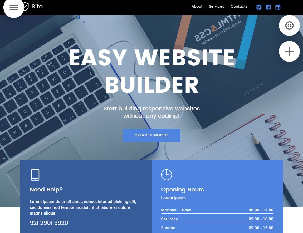 easy website builder